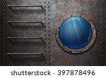 Submarine Or Ship Porthole Wit...