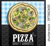 hot pizza advertisement | Shutterstock .eps vector #397882600