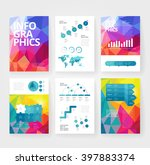 business brochure design... | Shutterstock .eps vector #397883374