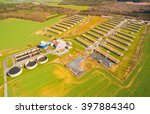 aerial view to biogas plant... | Shutterstock . vector #397884340