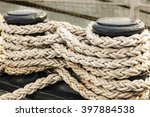 Poller And Ropes Of An Old...