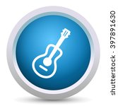 guitar icon | Shutterstock .eps vector #397891630