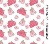 pattern made of garden roses.... | Shutterstock . vector #397894519