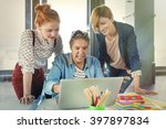 business man in modern office... | Shutterstock . vector #397897834
