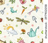 colorful seamless pattern with... | Shutterstock .eps vector #397902058