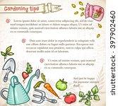 stylish summer card template... | Shutterstock .eps vector #397902460