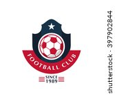 soccer football badge vector... | Shutterstock .eps vector #397902844
