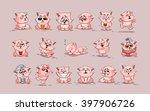set vector stock illustrations... | Shutterstock .eps vector #397906726