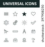 set of universal icons. general ...