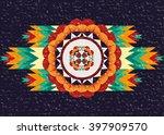 geometric ethnic oriental... | Shutterstock .eps vector #397909570