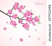 sakura flowers vector... | Shutterstock .eps vector #397912498