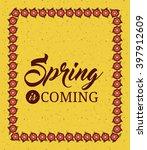 hello spring design  | Shutterstock .eps vector #397912609