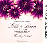 wedding card or invitation with ... | Shutterstock .eps vector #397917643