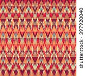 abstract ethnic seamless fabric ... | Shutterstock .eps vector #397920040