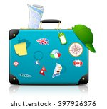 travel suitcase | Shutterstock .eps vector #397926376