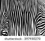 zebra print  not seamless... | Shutterstock .eps vector #397930270