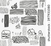 vector pattern with village... | Shutterstock .eps vector #397931080