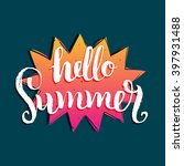 hello summer vector... | Shutterstock .eps vector #397931488
