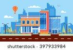 stock vector illustration city... | Shutterstock .eps vector #397933984