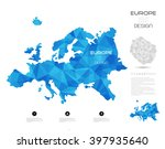 geometric map design  europe | Shutterstock .eps vector #397935640