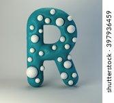3d plasticine handmade font.... | Shutterstock . vector #397936459