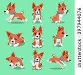 cartoon character basenji dog... | Shutterstock .eps vector #397944076