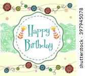 vector illustration of happy... | Shutterstock .eps vector #397945078