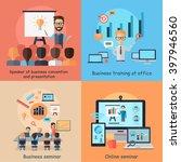 business online seminar banner... | Shutterstock .eps vector #397946560