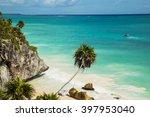 el castillo at tulum  mexico | Shutterstock . vector #397953040