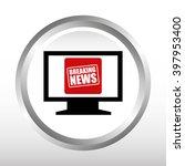 breaking news design  | Shutterstock .eps vector #397953400