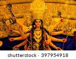 Small photo of Durga Idol - Durga puja Navrata, West Bengal, India