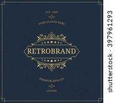 vector calligraphic logo... | Shutterstock .eps vector #397961293