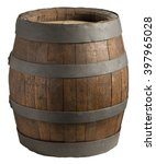Wood Barrel  Cask  Isolated On...