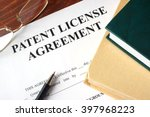 patent license agreement on a... | Shutterstock . vector #397968223