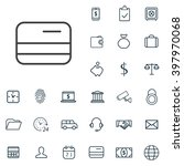 linear bank icons set....