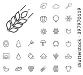 linear agriculture icons set....