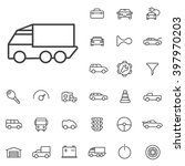 linear auto icons set....