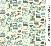seamless pattern with math and... | Shutterstock .eps vector #397972624