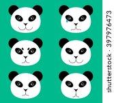 set of emotional panda face.  | Shutterstock .eps vector #397976473