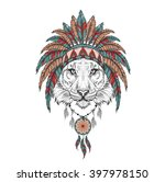 tiger in the indian roach.... | Shutterstock .eps vector #397978150