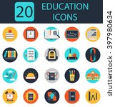 education icons.school icons... | Shutterstock .eps vector #397980634