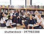 classmate educate friend... | Shutterstock . vector #397983388