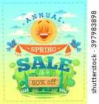 spring sale. vector illustration | Shutterstock .eps vector #397983898