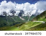 mountains in austria. green... | Shutterstock . vector #397984570