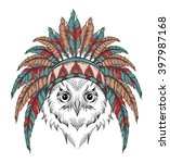 owl in the indian roach. indian ... | Shutterstock .eps vector #397987168