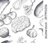 hand drawn seamless set of... | Shutterstock .eps vector #397991056