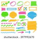 highlighter marker design... | Shutterstock .eps vector #397992670