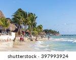 playa del carmen  mexico  ... | Shutterstock . vector #397993924