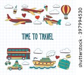 hand drawn images travel... | Shutterstock .eps vector #397994530