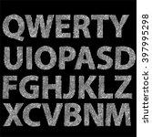grunge letters design...   Shutterstock .eps vector #397995298